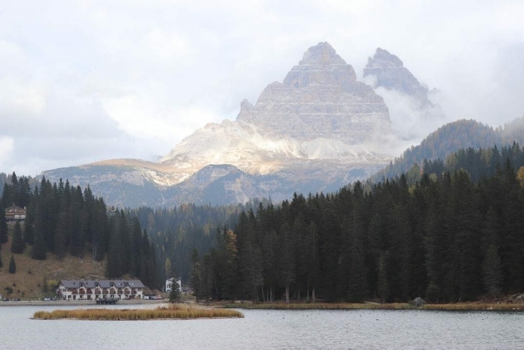 Tre Cime di Laved from lake Misurina