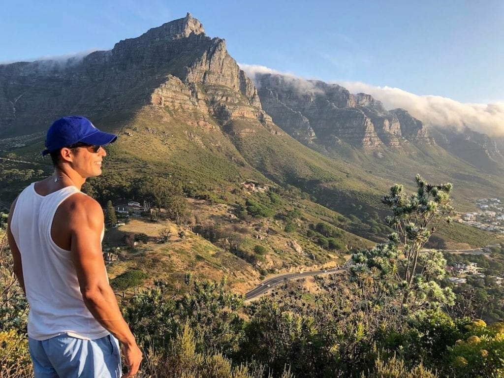 Table Mountain and Twelve Apostles from Lion's Head Hiking Trail
