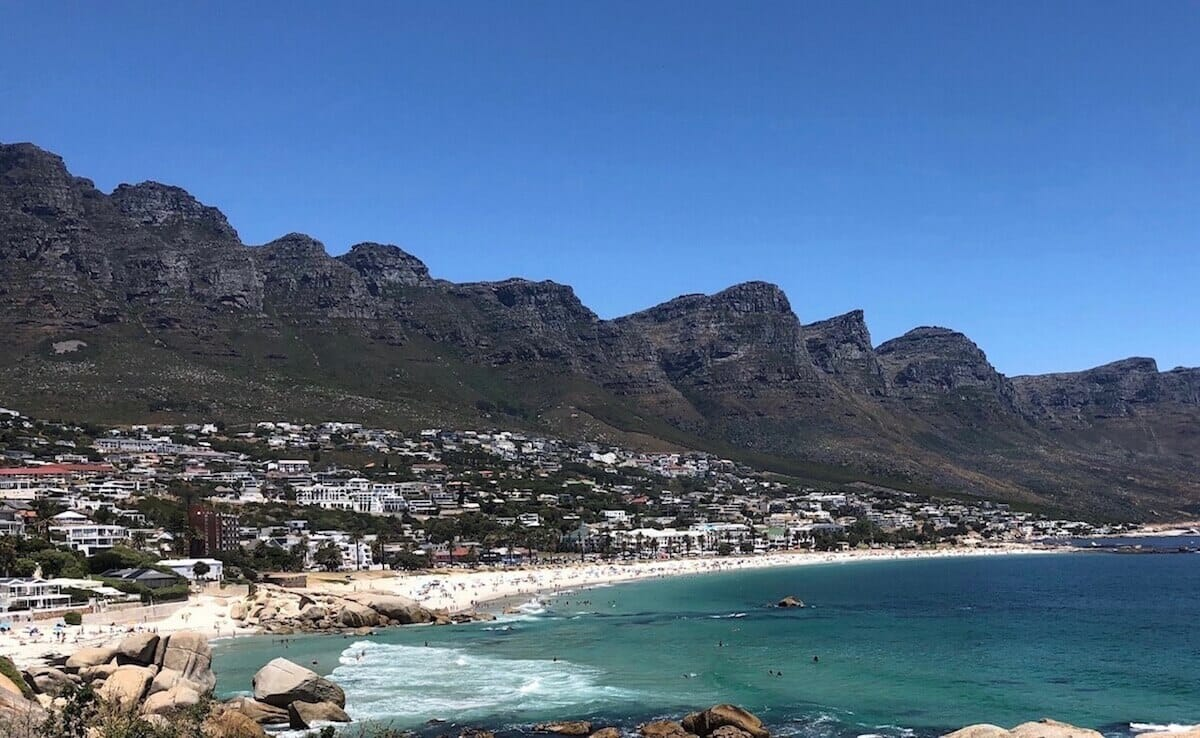 Glen Beach, Camps Bay and the 12 Apostles Mountain