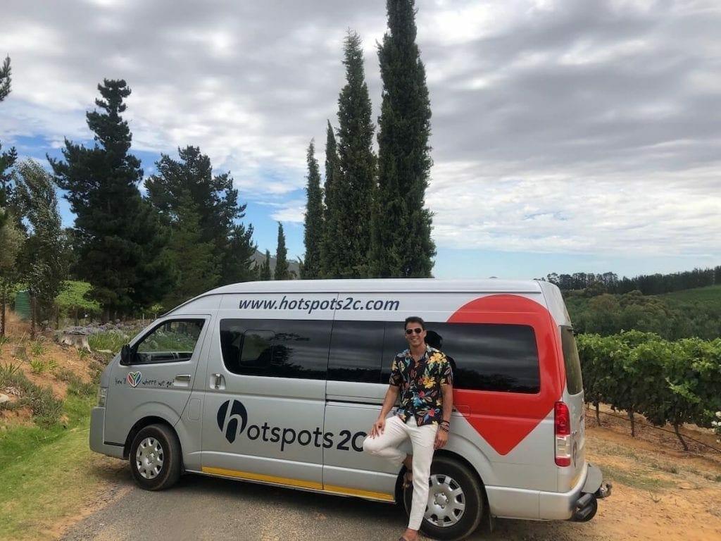Passeio para vinícolas na África do Sul com HotSpots2C
