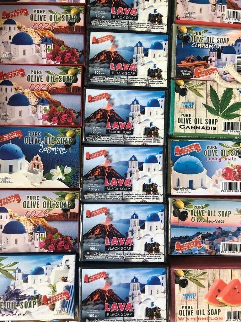 Souvenirs to buy in Santorini