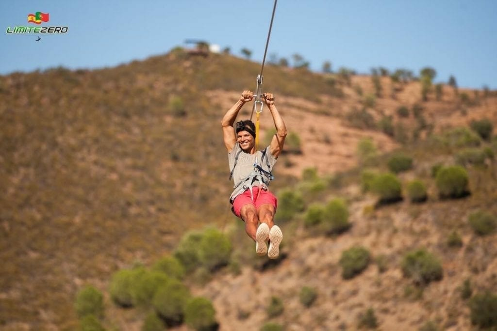 Ziplining from Spain to Portugal