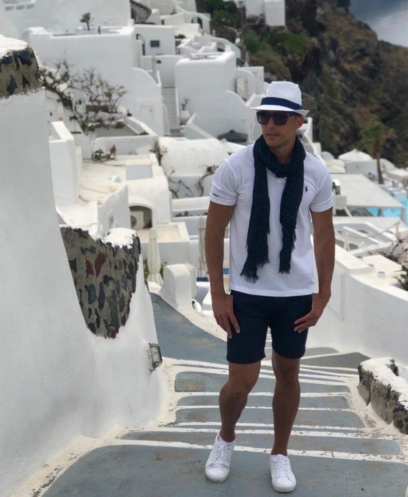 Mens outfits, Santorini, Greece